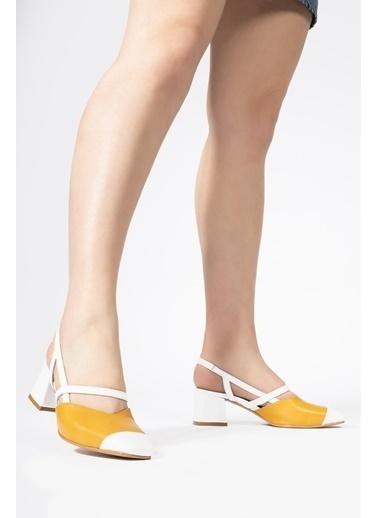 CZ London Hakiki Deri Sandalet Sarı